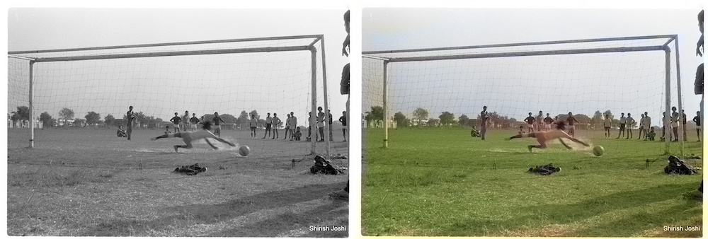 Image colorization demo in OpenCV